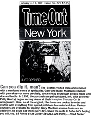 Time Out NY January 2001