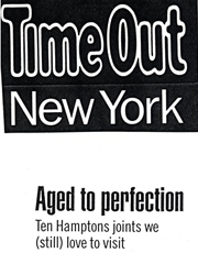 Time Out NY May 2000